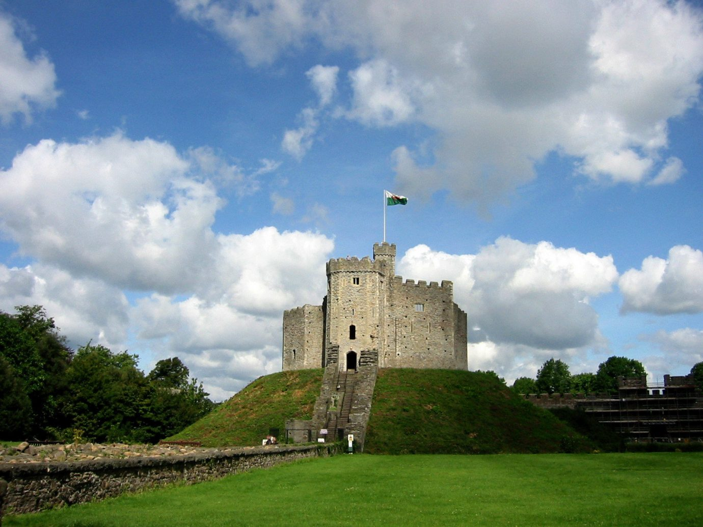 City London sky cloud castle highland fortification grass château historic site national trust for places of historic interest or natural beauty stately home archaeological site tree field grassland building meadow meteorological phenomenon estate landscape citadelle ancient history