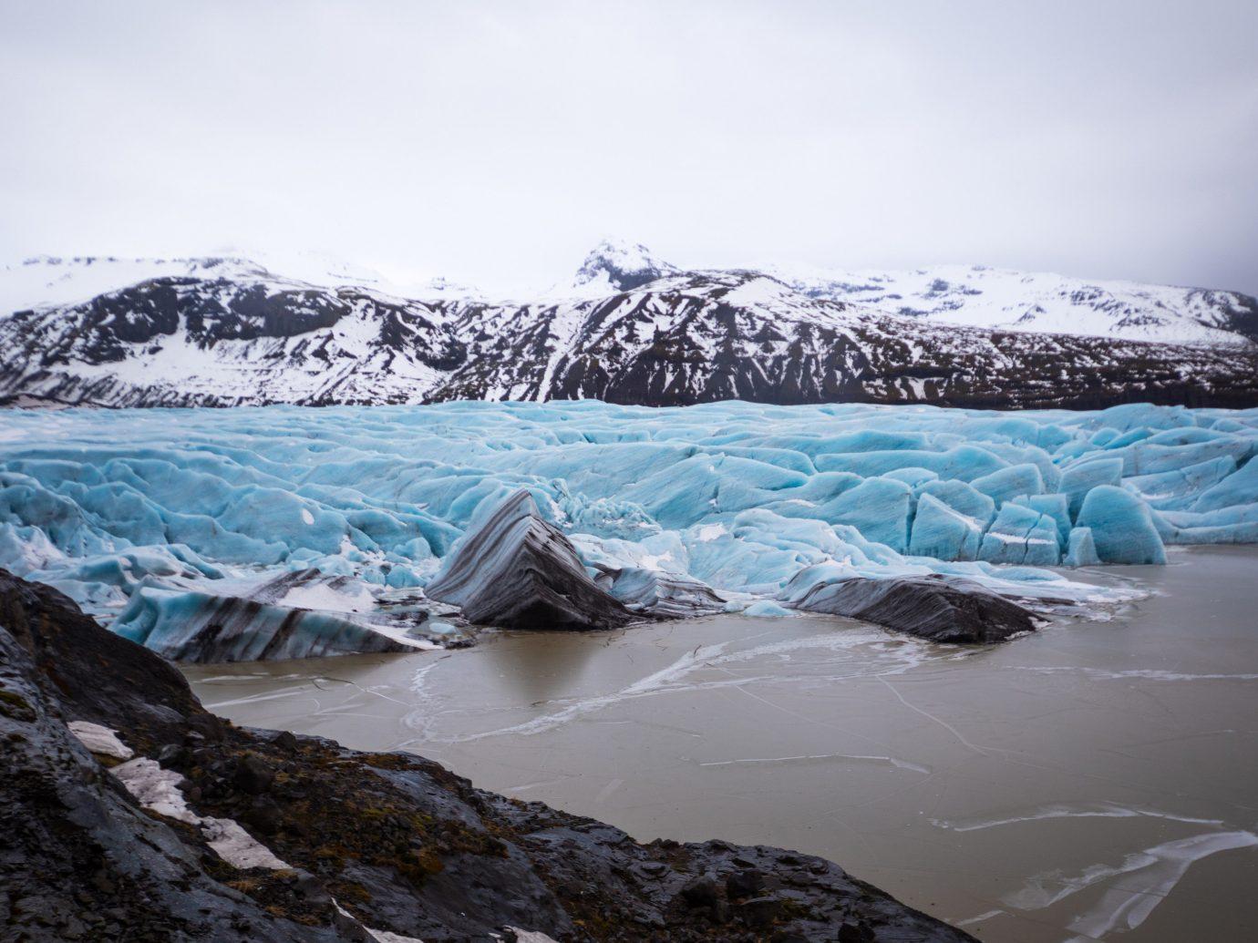 Iceland Outdoors + Adventure Road Trips glacial lake water glacier glacial landform ice cap ice arctic iceberg mountain polar ice cap sea ice fell nunatak fjord arctic ocean cirque freezing Lake melting landscape moraine sky