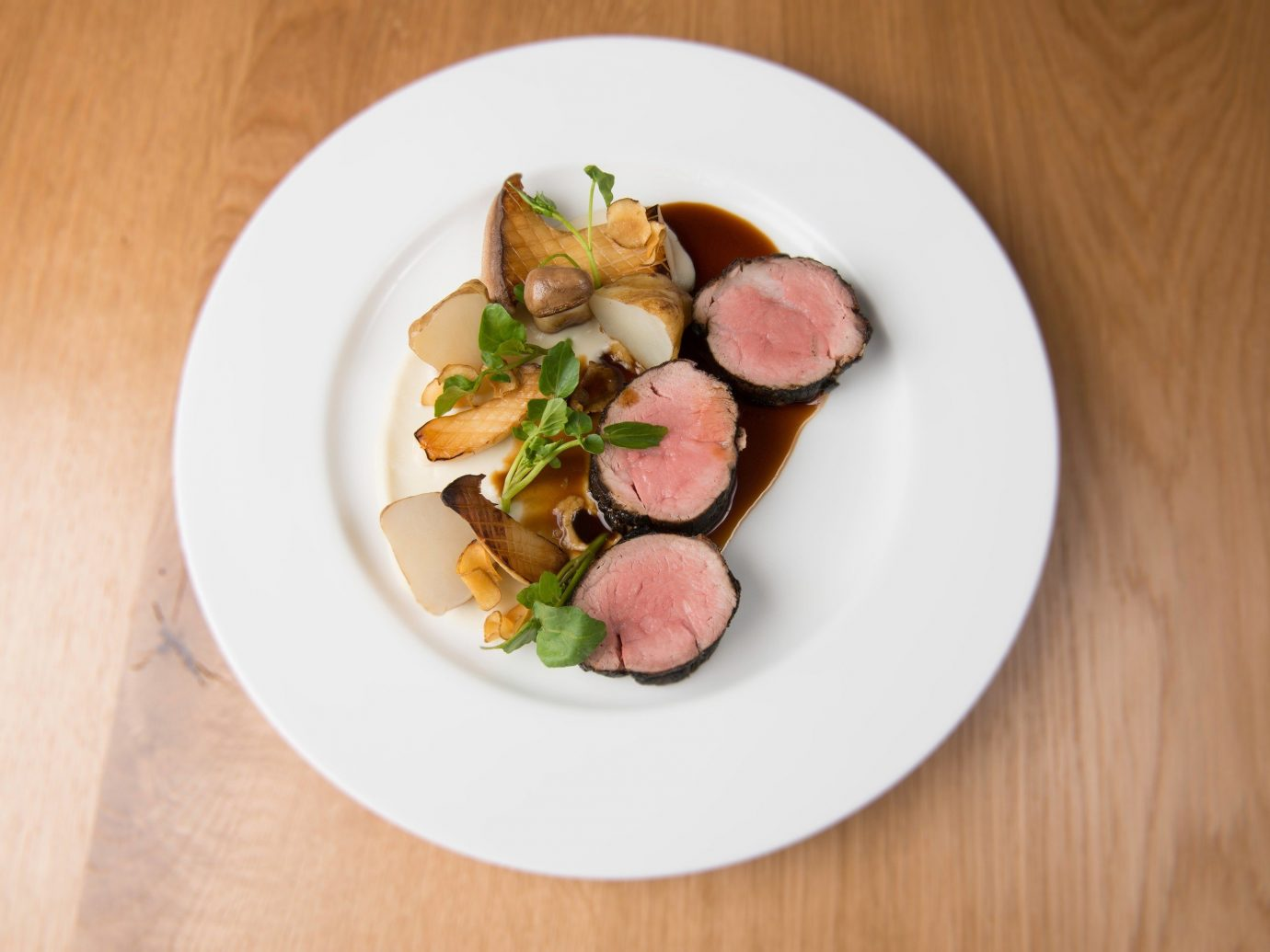 Food + Drink plate food table dish indoor meal produce cuisine meat wooden vegetable breakfast sliced
