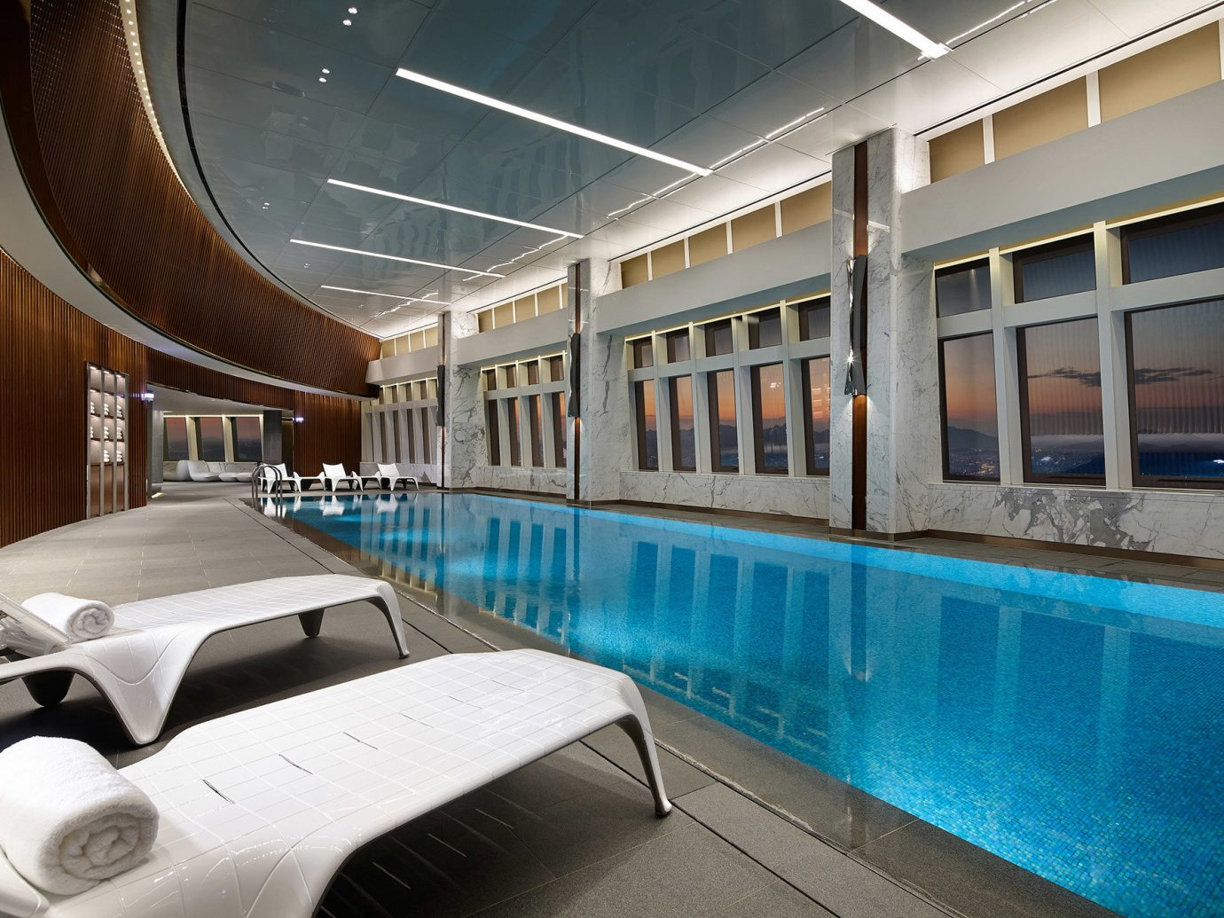 Hotels Luxury Travel indoor floor swimming pool Architecture leisure centre leisure interior design estate window amenity hotel