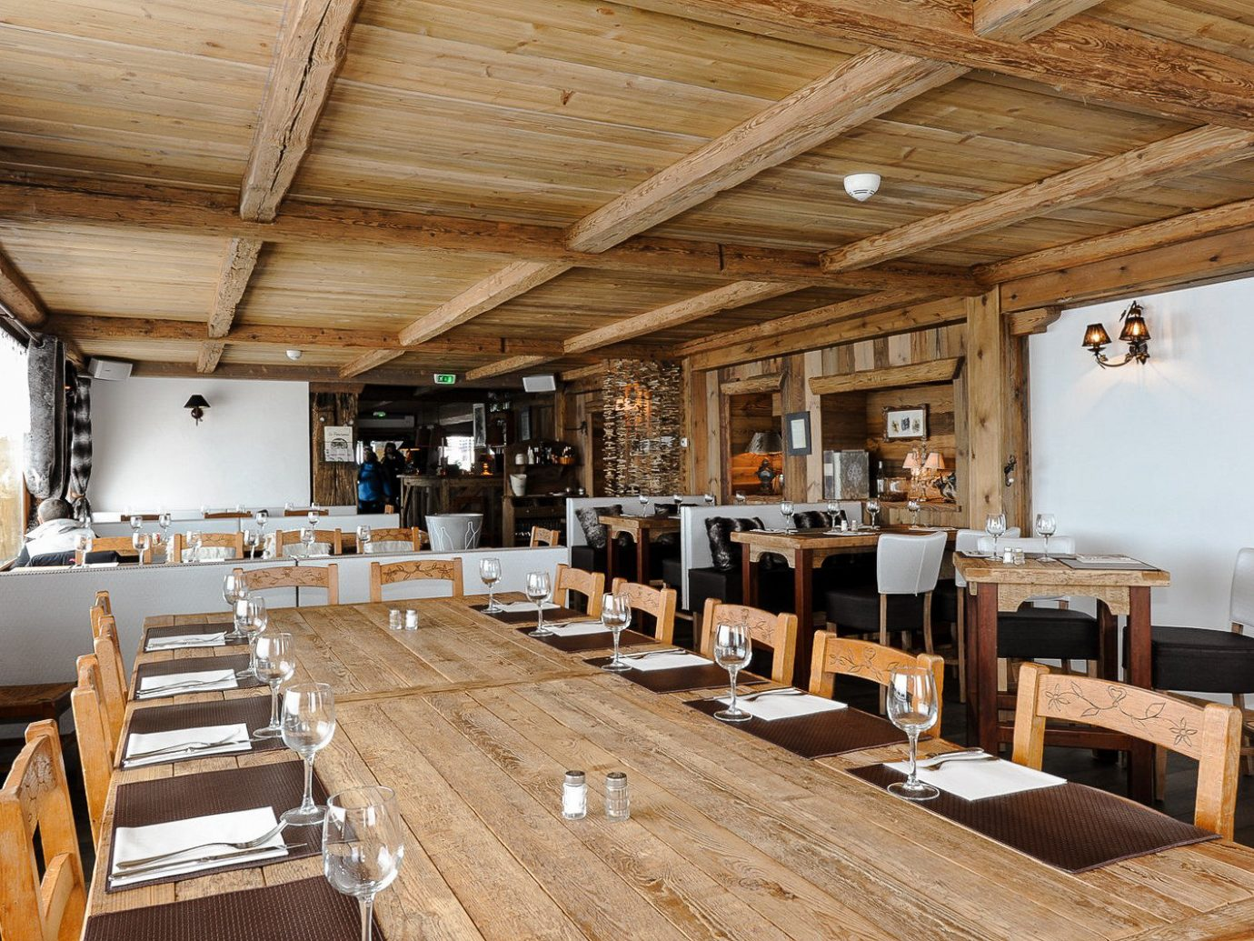Interior of Le Panoramic, Chamonix, France