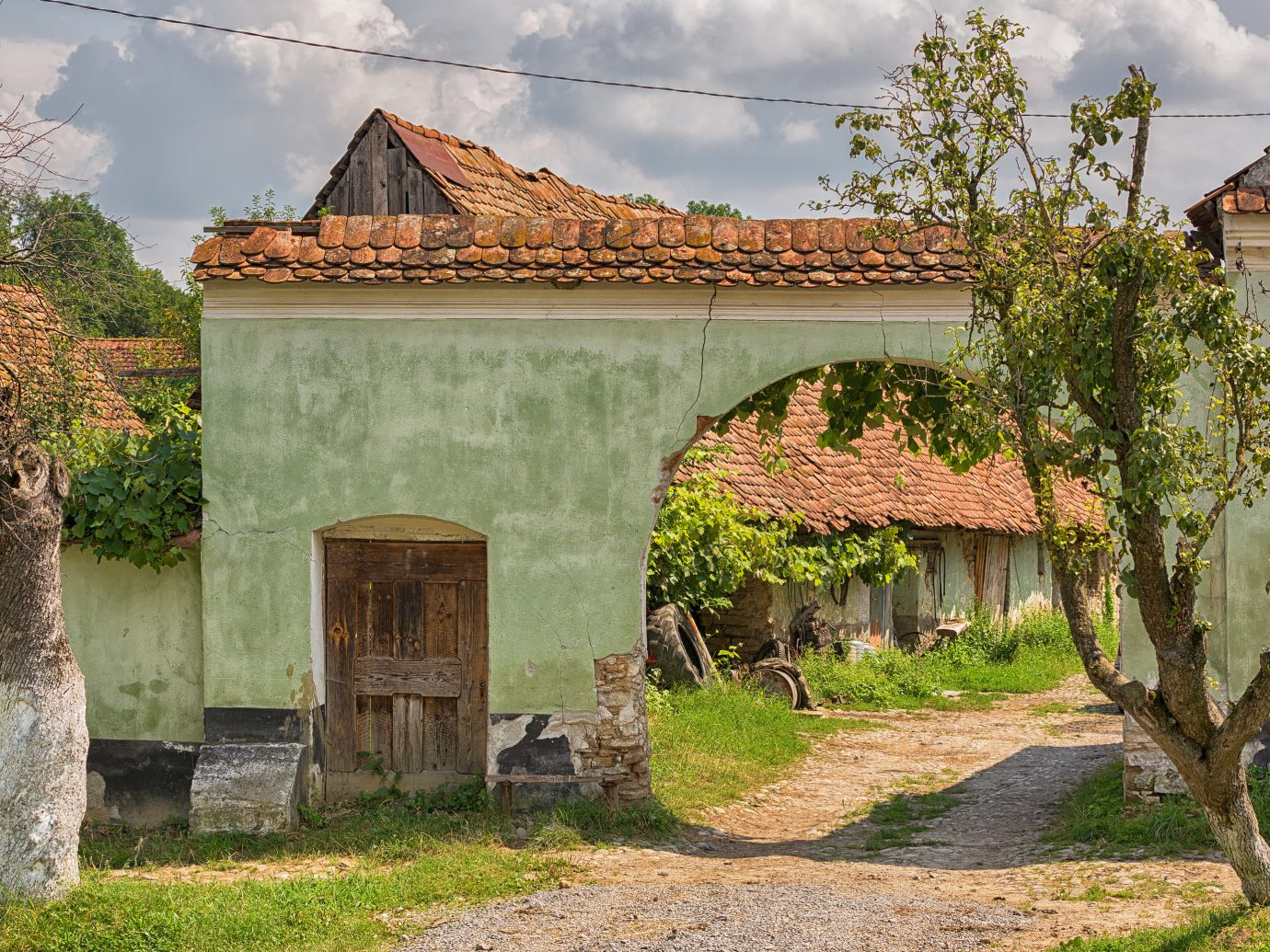 Trip Ideas outdoor grass tree house building estate rural area Village home Ruins cottage flower Garden stone