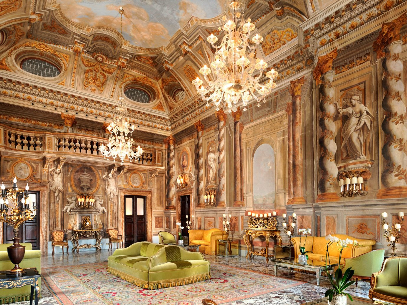 Classic Elegant Historic Italy Lobby Lounge Luxury Romance Romantic Trip Ideas indoor building palace estate ballroom interior design ancient history place of worship synagogue altar