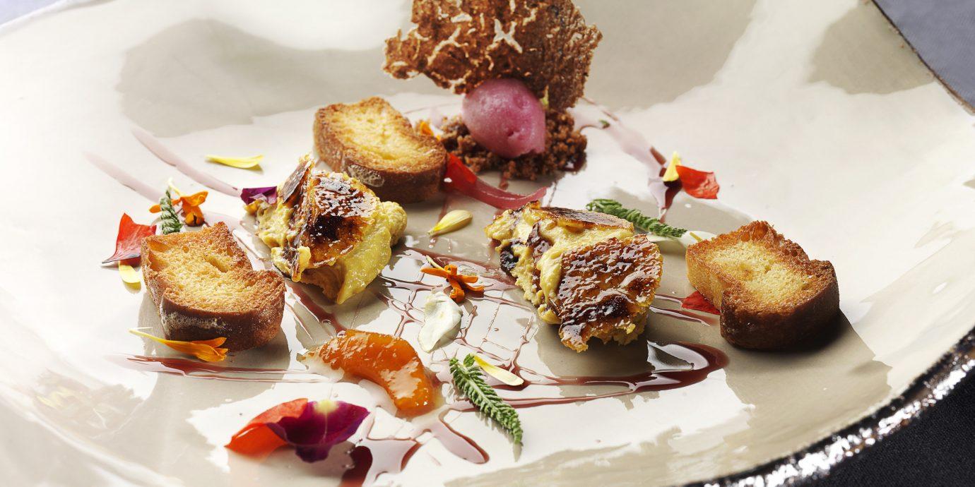 Food + Drink food plate dish piece meal hors d oeuvre cuisine meat produce restaurant breakfast slice pincho brunch eaten dessert