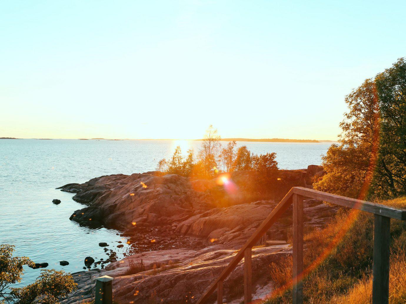 Trip Ideas sky outdoor water tree morning Sea Nature shore sunlight Coast reflection Sunset evening sunrise dusk autumn dawn