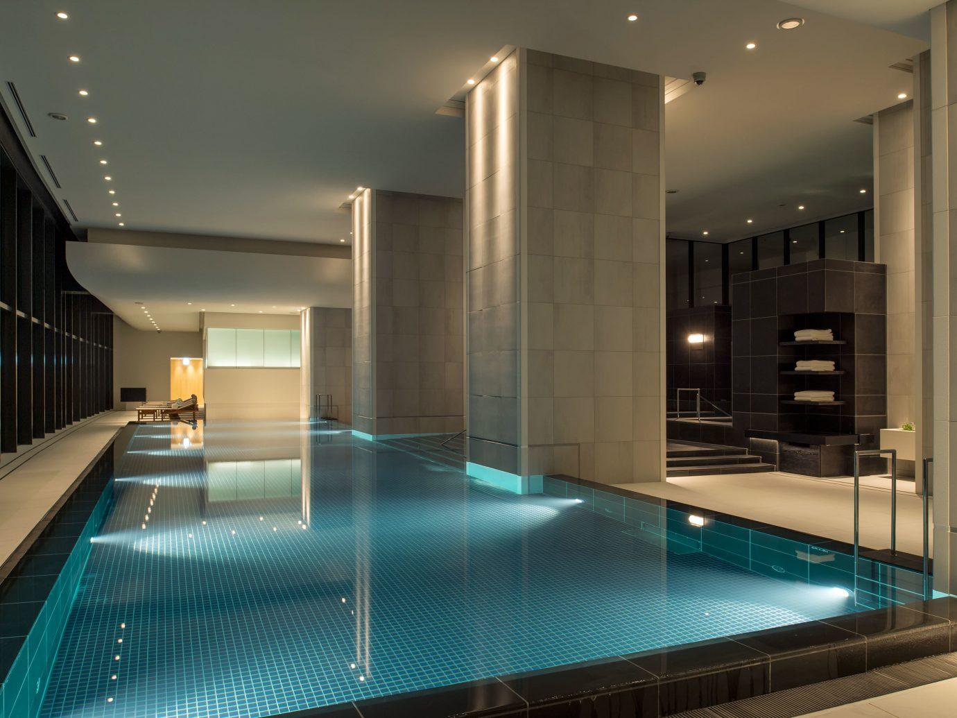 Hotels Japan Tokyo indoor wall ceiling swimming pool room floor interior design lighting daylighting Design condominium Lobby
