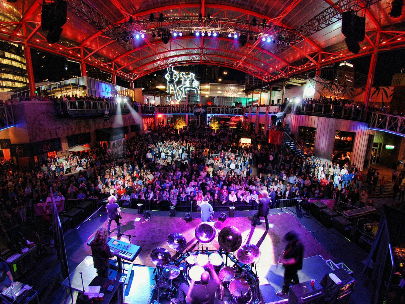 Trip Ideas crowd night nightclub stage audience musical theatre