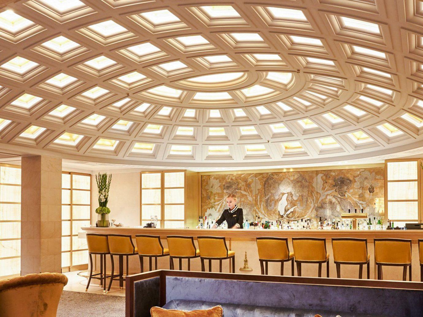 Berlin Boutique Hotels Germany Hotels Luxury Travel indoor ceiling window floor chair building room interior design daylighting Lobby roof estate furniture real estate beam