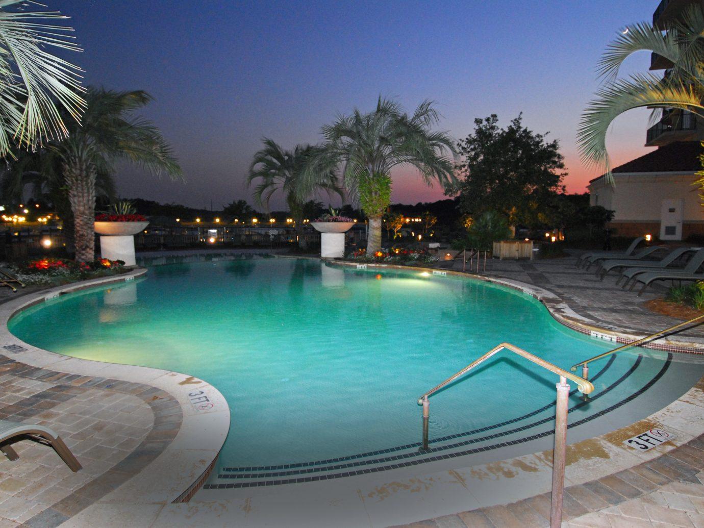 Inn Lounge Patio Pool Resort Trip Ideas outdoor water swimming pool property leisure estate vacation Villa resort town condominium backyard reflecting pool mansion lined several