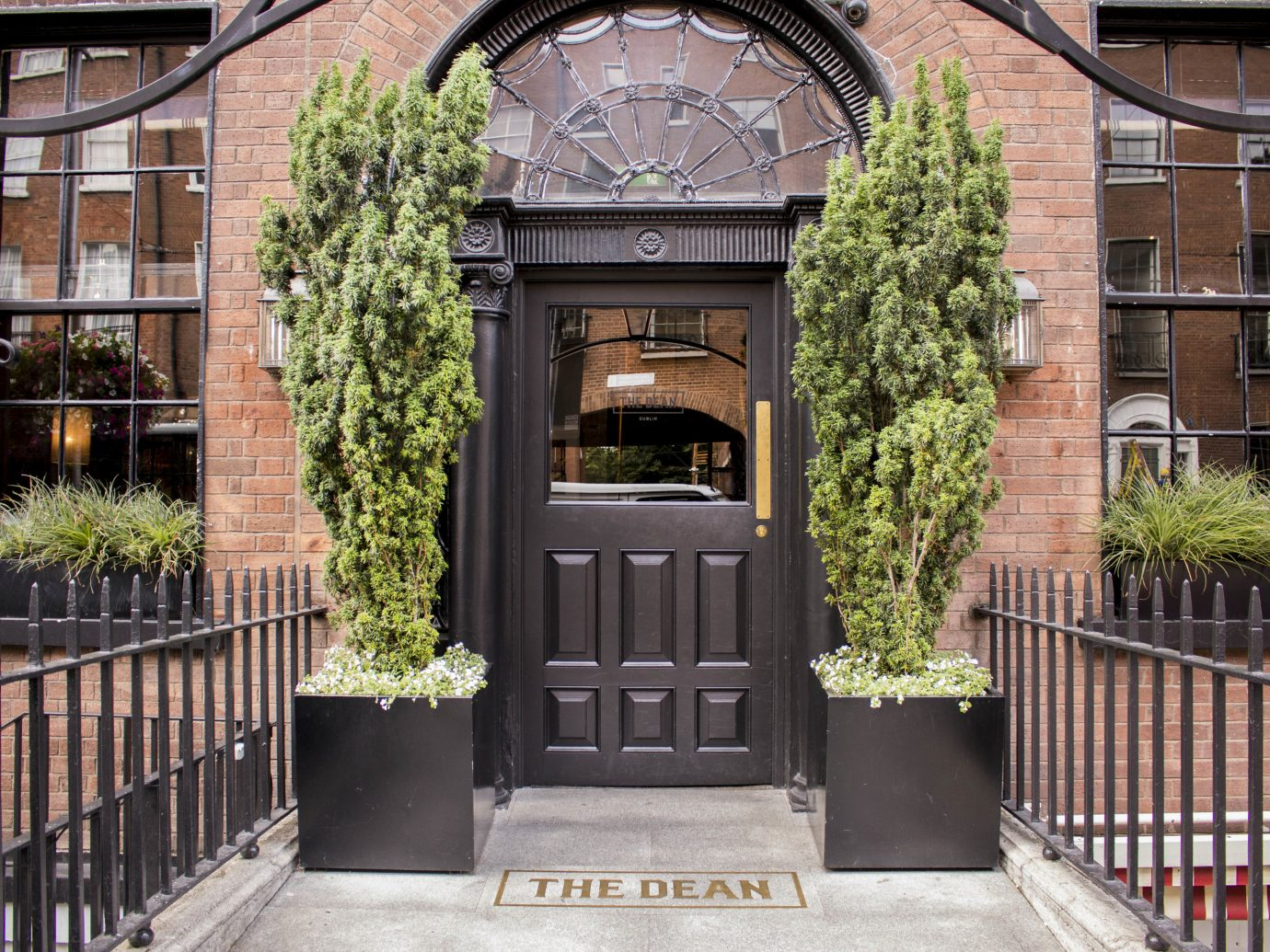 Dublin Hotels Ireland outdoor building iron gate door facade house Courtyard Garden