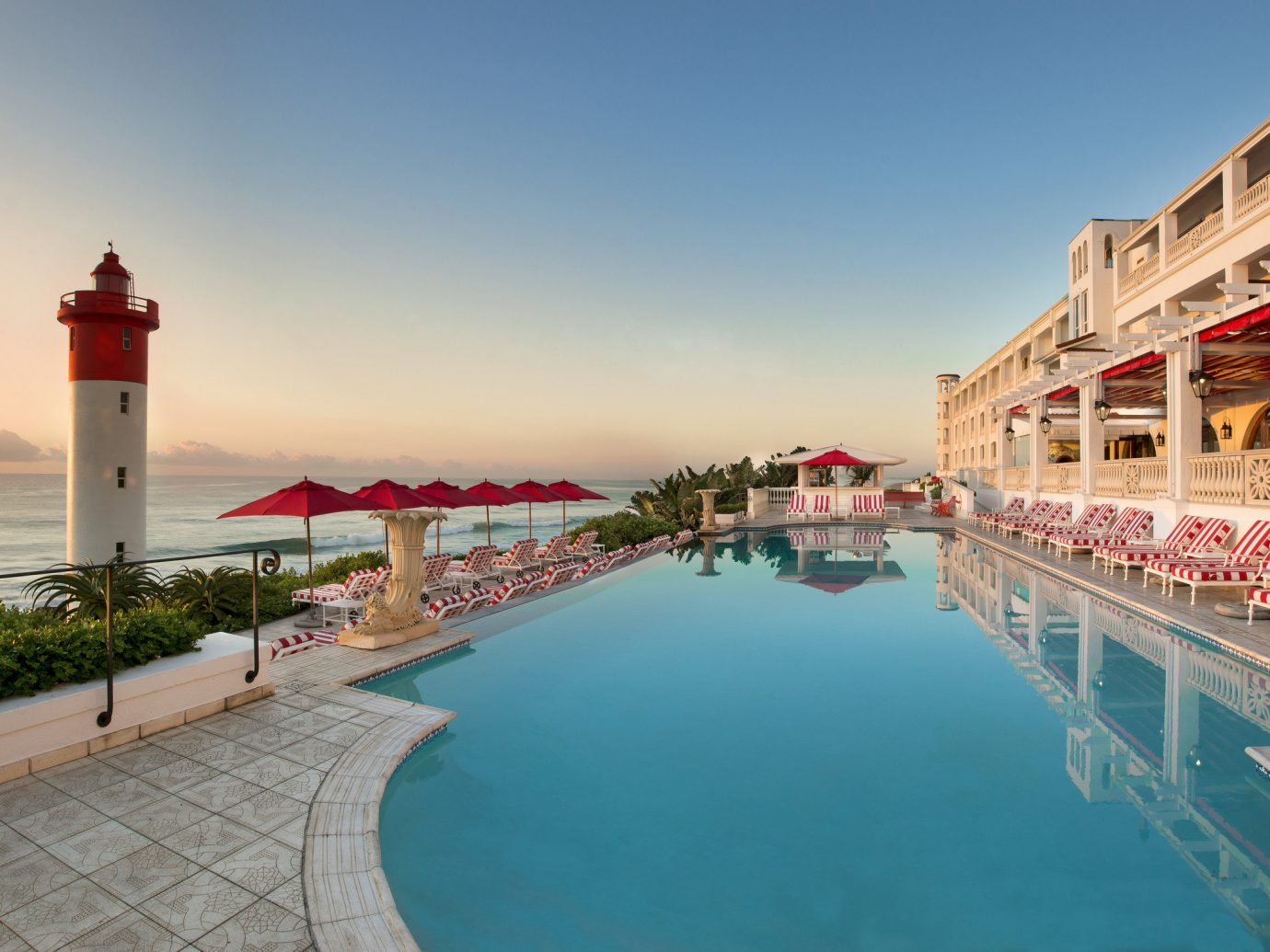 Hotels outdoor sky water vacation walkway Sea tower Beach Coast Resort