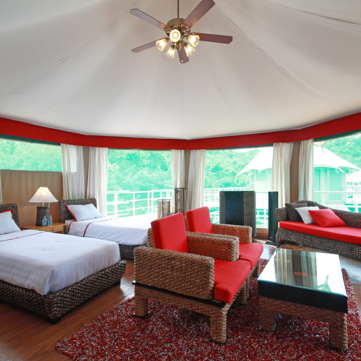 Adventure Bedroom Natural wonders Parks Romance Rustic Scenic views Wellness property red living room Suite Villa Resort home cottage