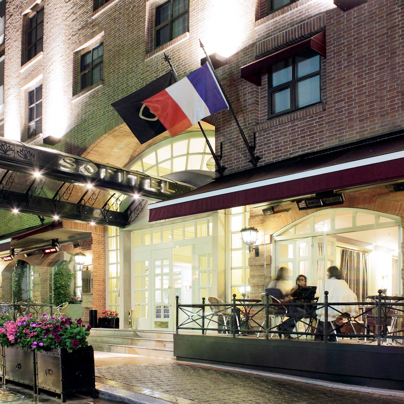 Architecture Buildings Classic Exterior Grounds Resort building Town restaurant Bar street plaza City stone