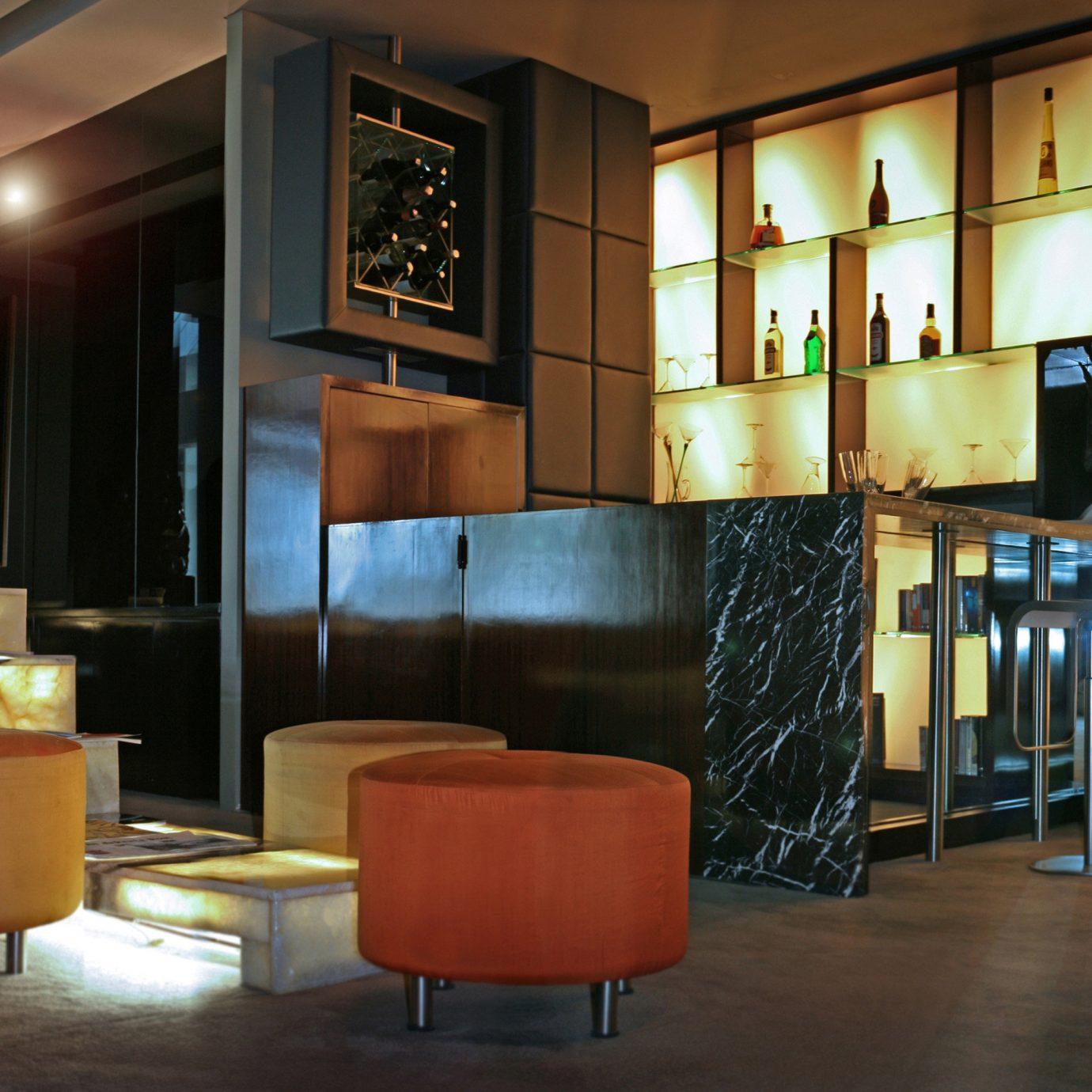 Architecture City Lobby Lounge Modern orange restaurant living room Bar