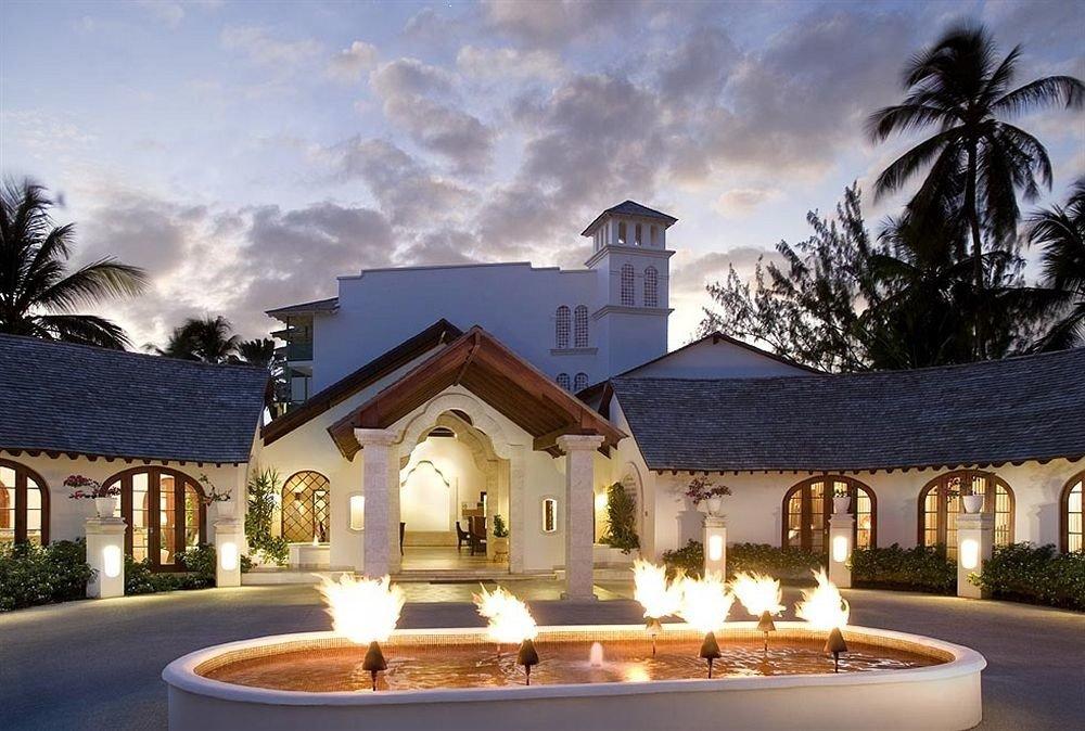 Architecture Buildings Exterior Modern sky house home mansion Villa lighting Resort landscape lighting stone