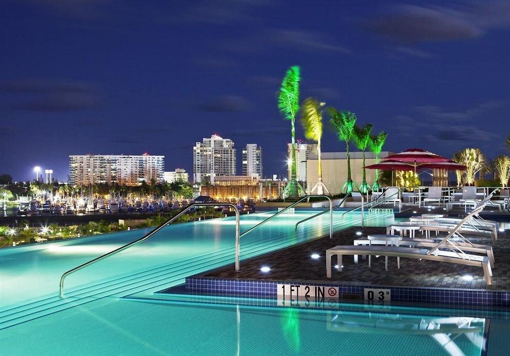 Architecture Buildings Exterior Play Pool Resort Scenic views water marina landmark cityscape dock swimming pool skyline condominium sport venue skyscraper stadium