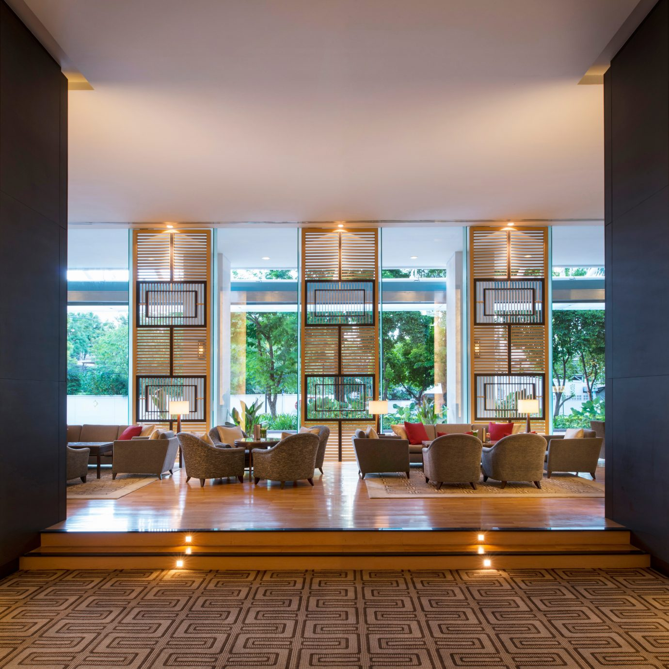 City Lobby Lounge Resort Tropical property living room Architecture home professional hall condominium Island