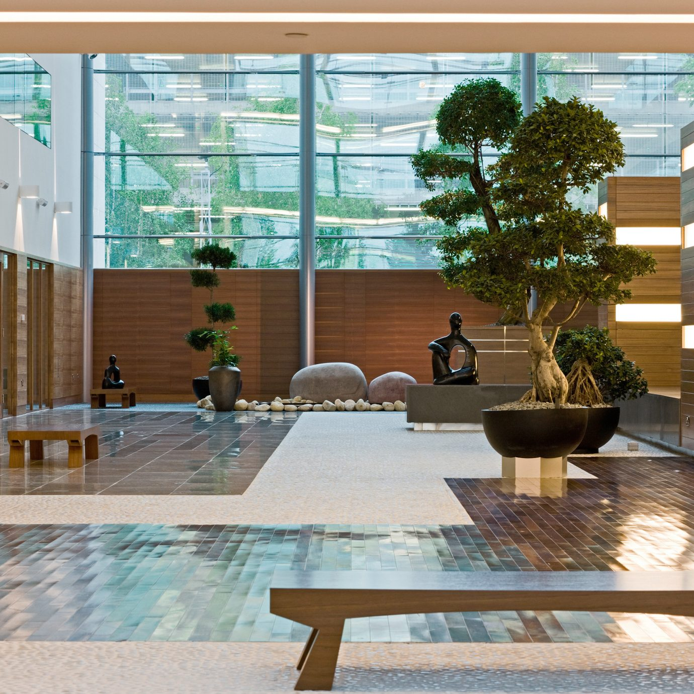 Architecture Lounge Resort Lobby property condominium home living room Courtyard outdoor structure