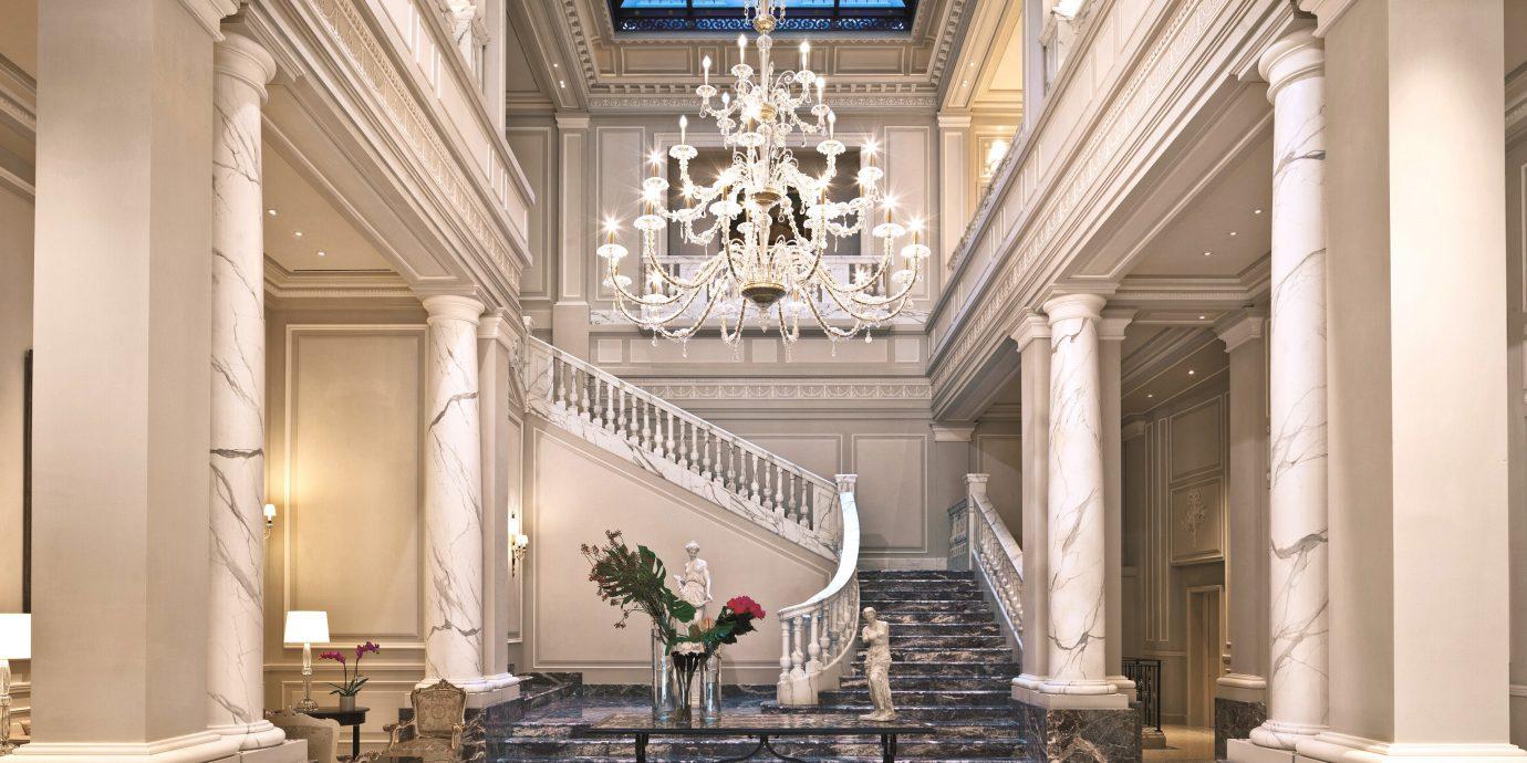 Elegant Honeymoon Lobby Luxury Romantic living room home column Architecture house mansion hall lighting palace stone