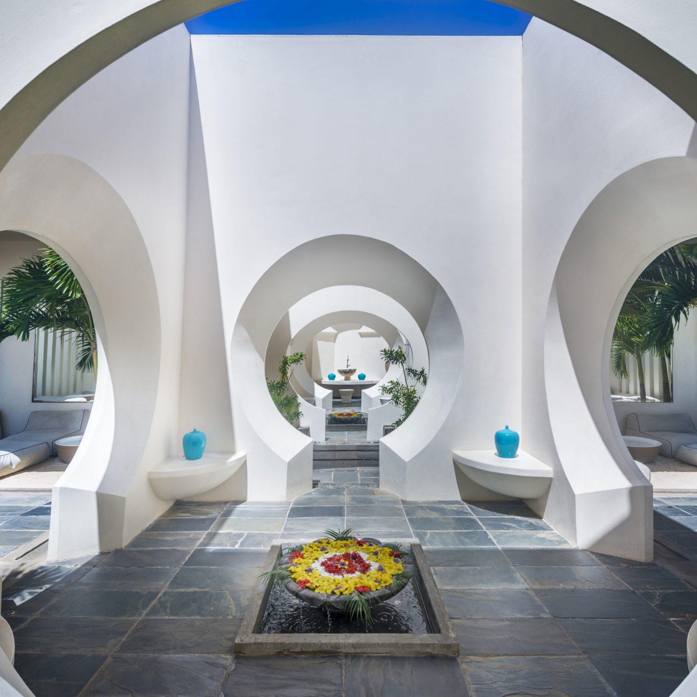 Architecture arch white mansion Villa Resort plant Modern stone