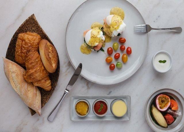 food plate breakfast dessert cuisine lunch arranged