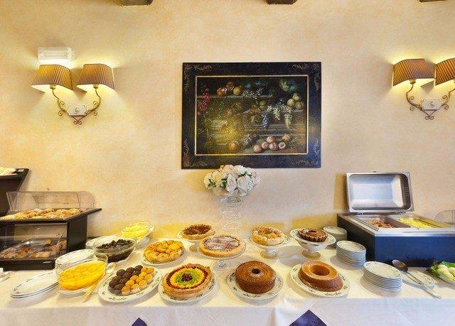 plate buffet food arranged
