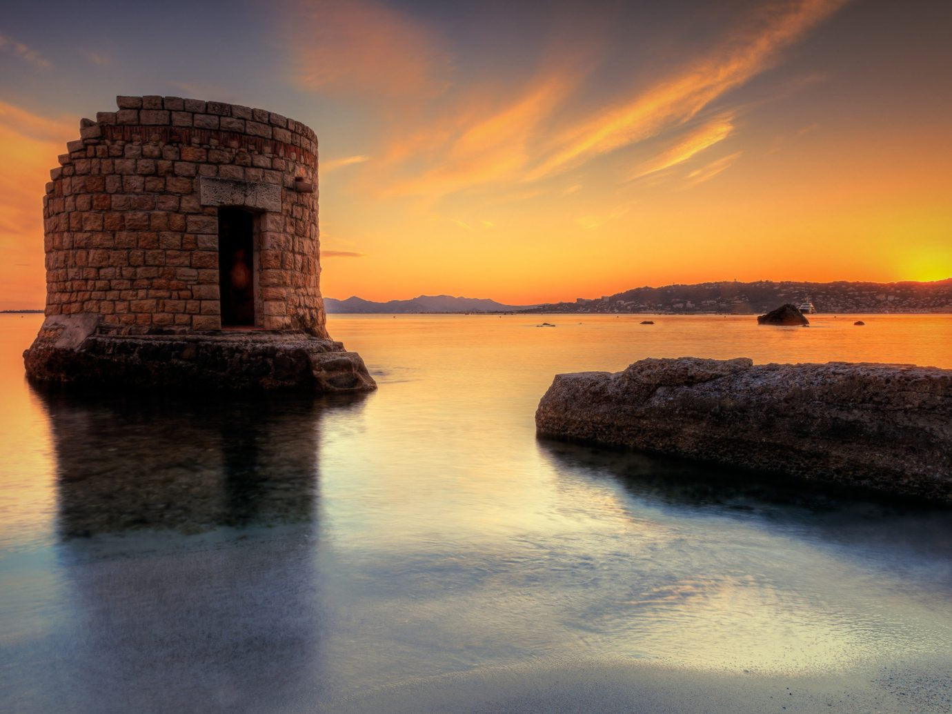 Antibes Southern France Sunset