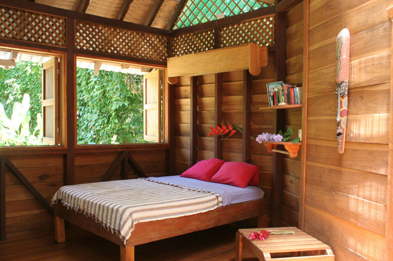 Bedroom at Tree House Hotel in Punta Uva Costa Rica