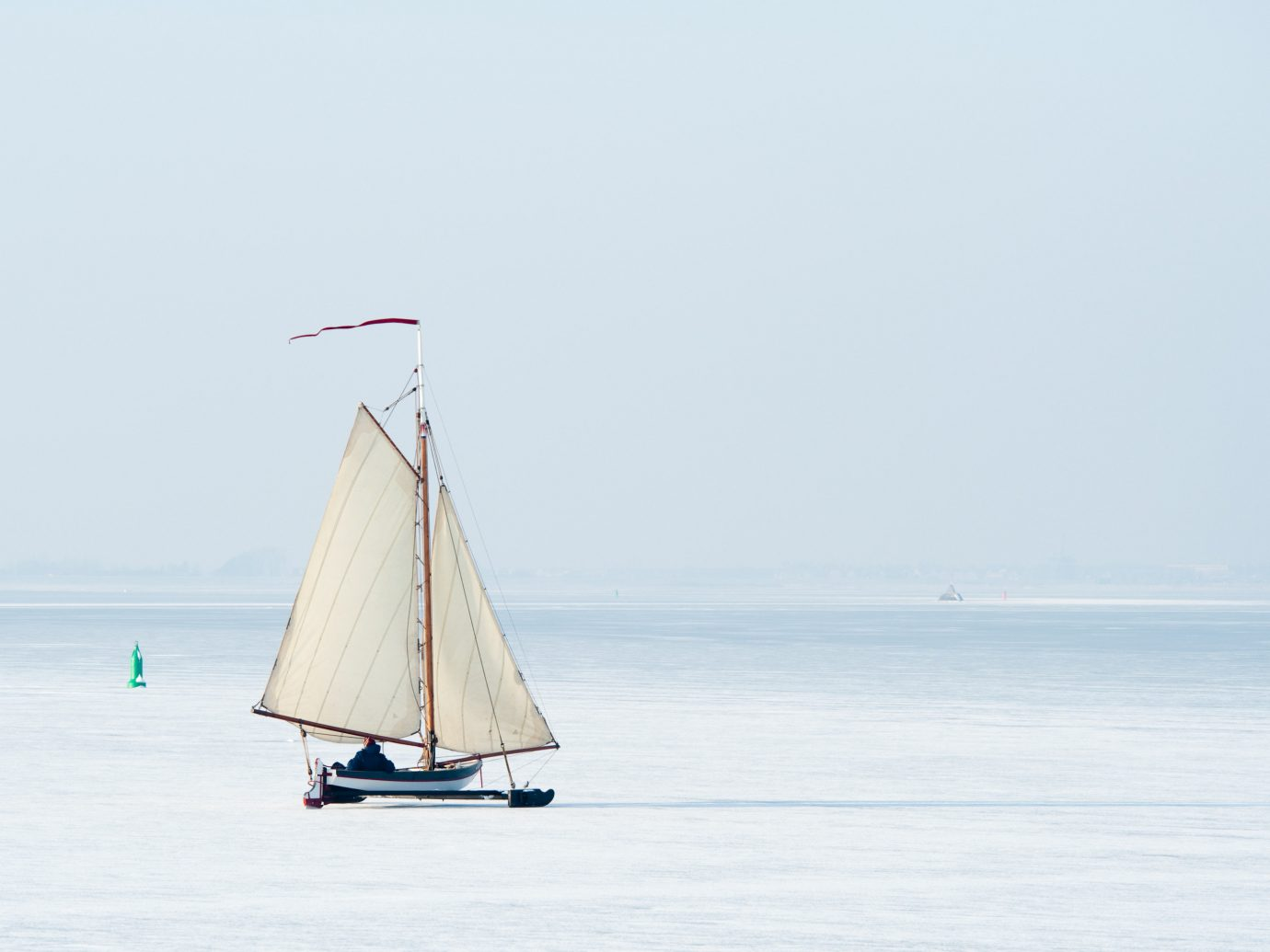 Offbeat water sky outdoor watercraft transport Boat sailboat sail vehicle Sea sailing ship sailing vessel Lake schooner wind mast sailing distance day