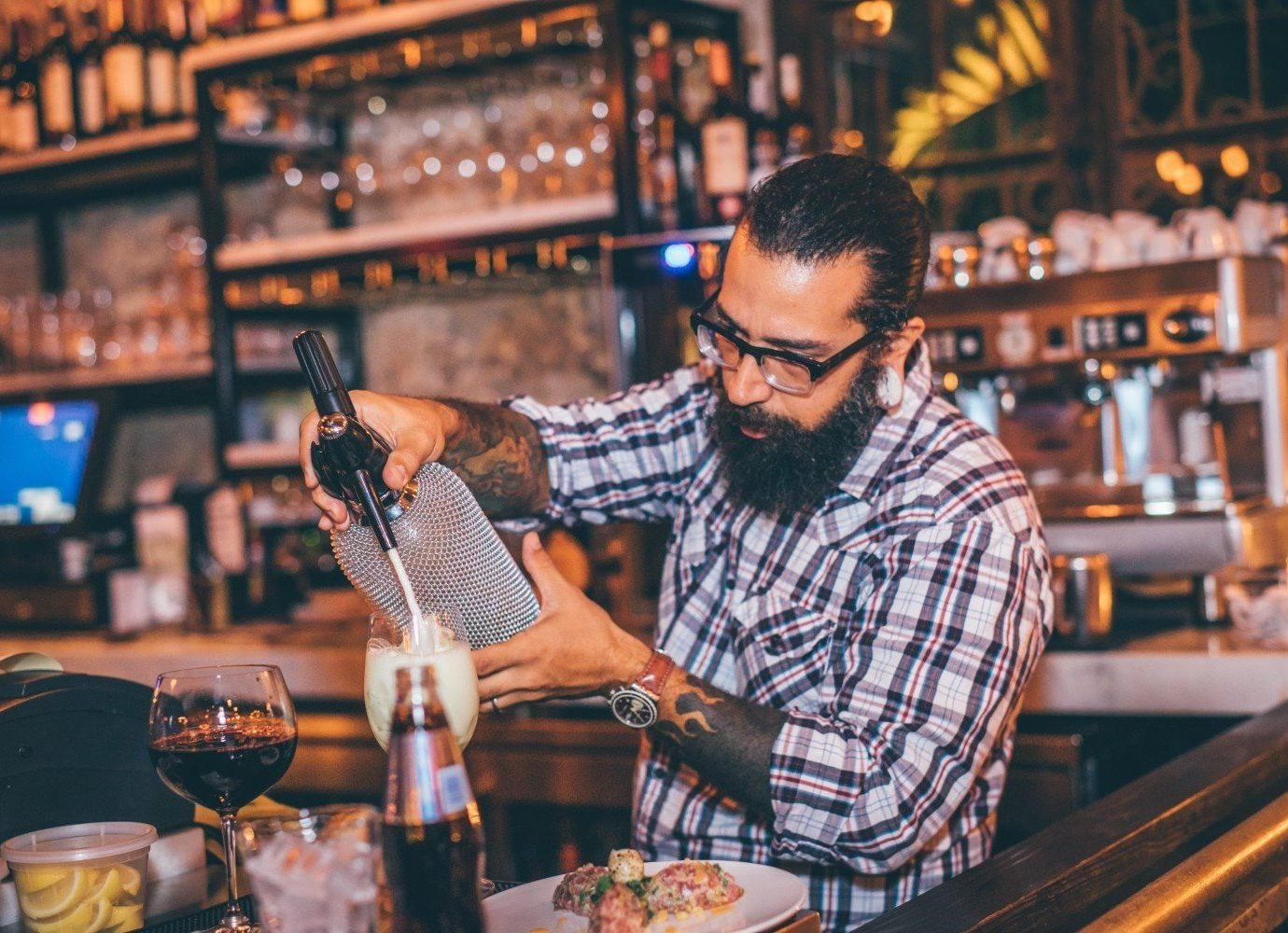 Trip Ideas person man indoor Bar meal sense restaurant dish