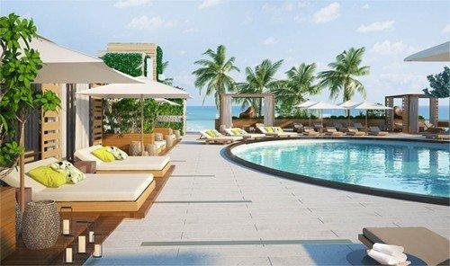 Hotels outdoor swimming pool property Resort condominium leisure caribbean Villa vacation estate real estate home eco hotel hacienda Deck furniture