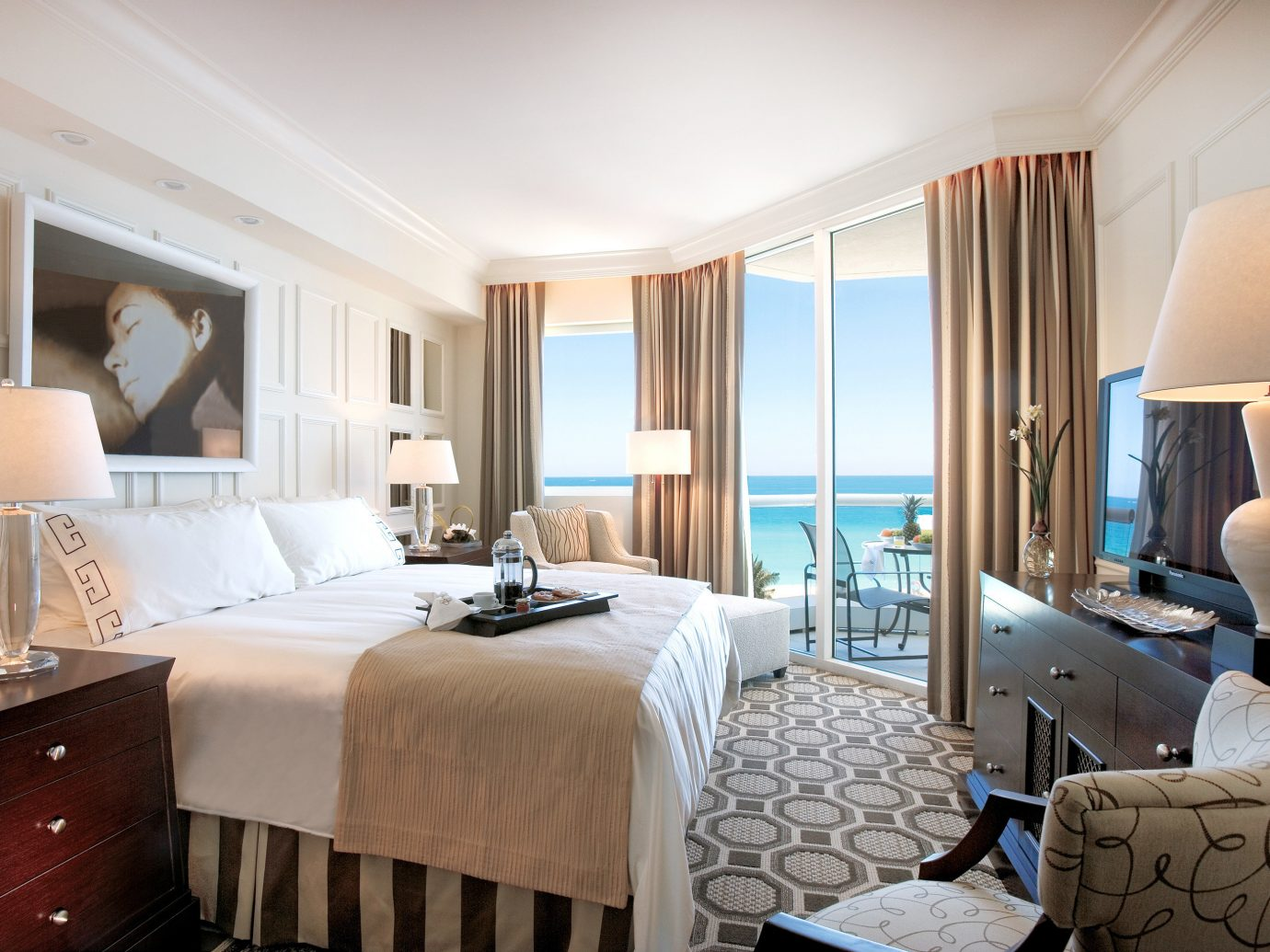 Bedroom at Acqualina Resort & Spa - Miami Hotel