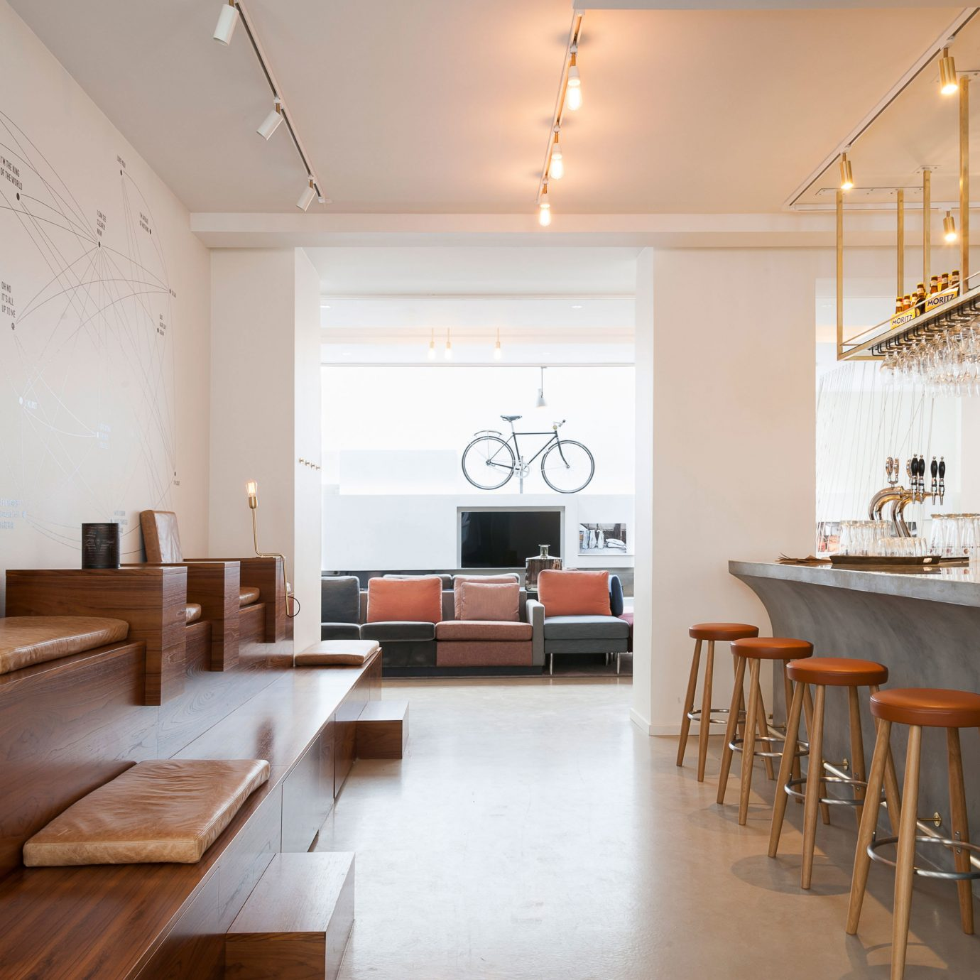 Bar Boutique Hotels Copenhagen Denmark Dining Drink Eat Hip Hotels Luxury Modern Trip Ideas property wooden home living room