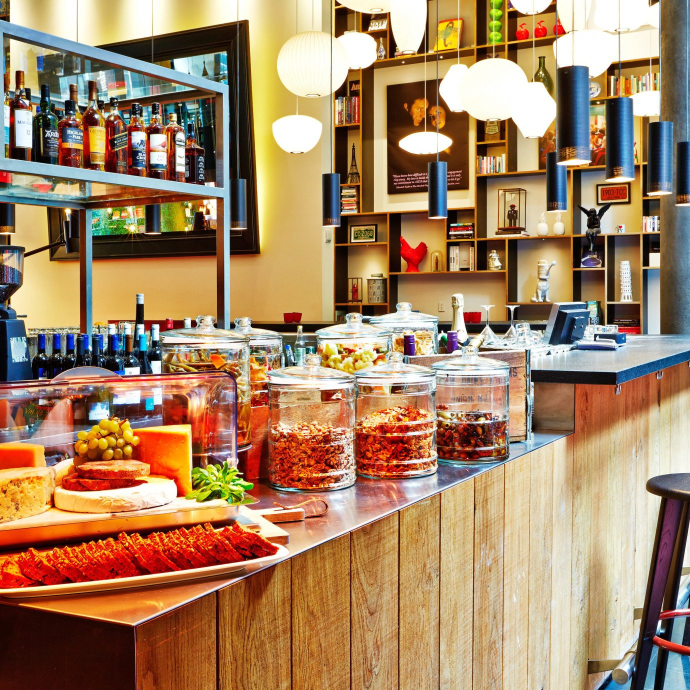 Budget City Dining Drink Eat Kitchen Modern grocery store Bar restaurant bookselling