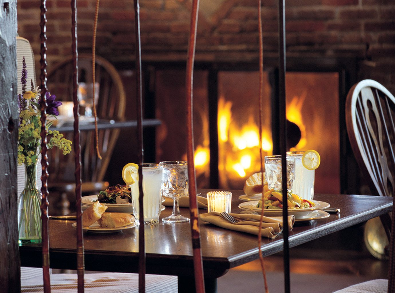 Bar Dining Drink Eat Fireplace Luxury restaurant lighting