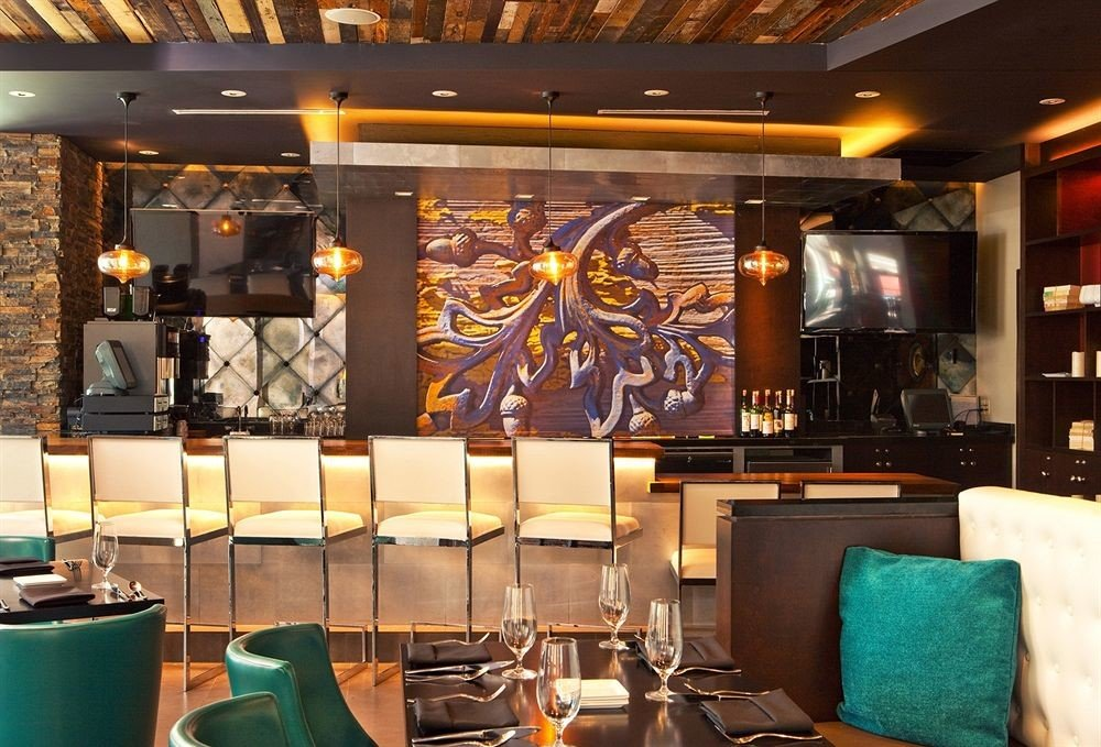 Bar Dining Drink Eat Hip Luxury Modern Lobby restaurant function hall café