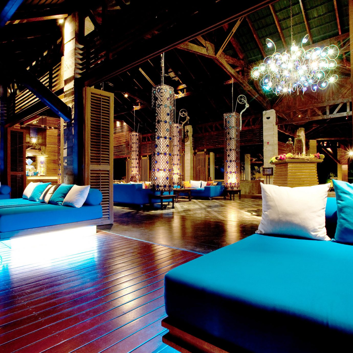 Hip Lounge Luxury Modern Nightlife Romantic light night Bar Resort lighting restaurant swimming pool nightclub