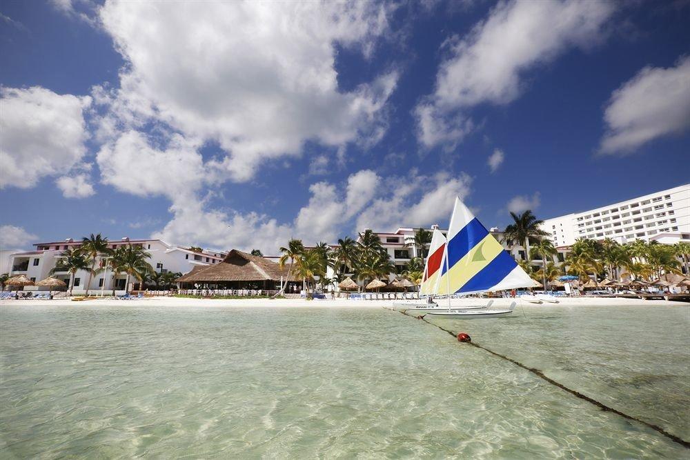 sky water Sea Beach vehicle boating caribbean Coast sail sailing Boat shore day