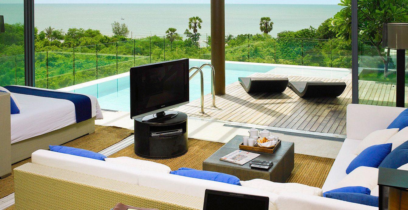 Beach Family Modern Resort sky leisure property swimming pool condominium Villa home living room cottage Suite backyard