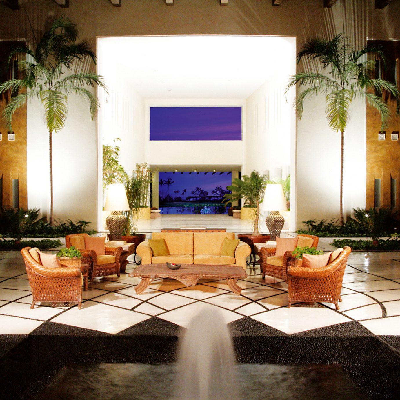 Beachfront Courtyard Lounge Outdoors Resort Romantic Tropical Lobby property living room home house mansion lighting Villa hacienda backyard rug stone
