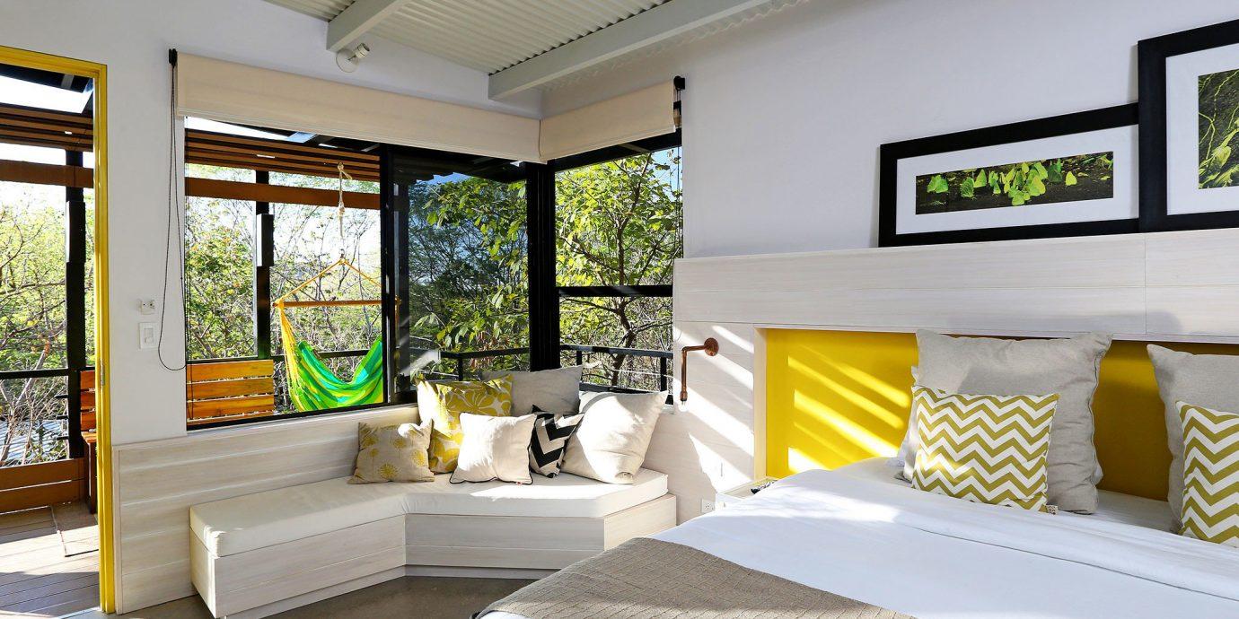 Bedroom Boutique Eco Hip Modern Resort property condominium home living room Villa white cottage Suite