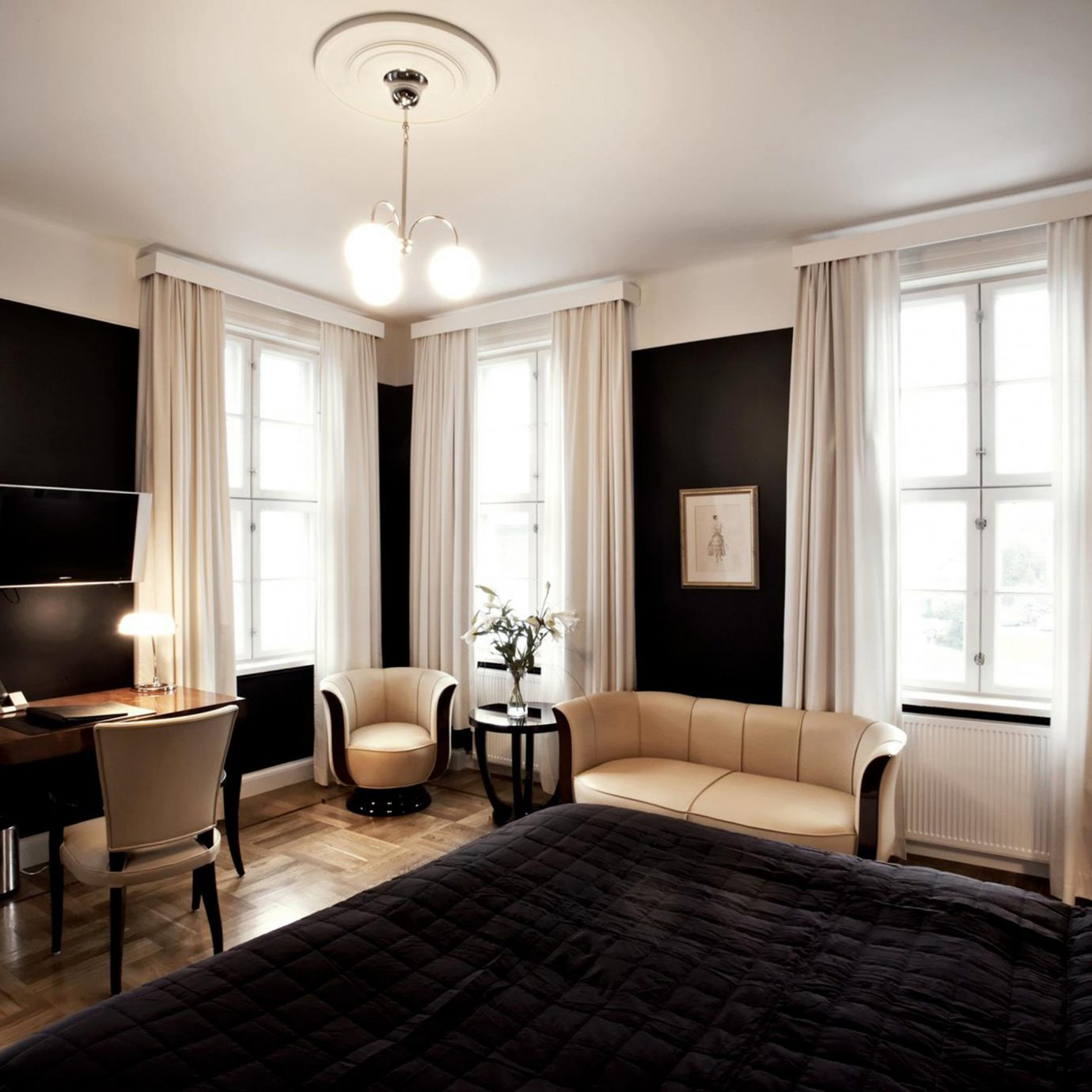 Bedroom Boutique Hip Hotels Iceland Luxury Modern property living room Suite home hardwood nice