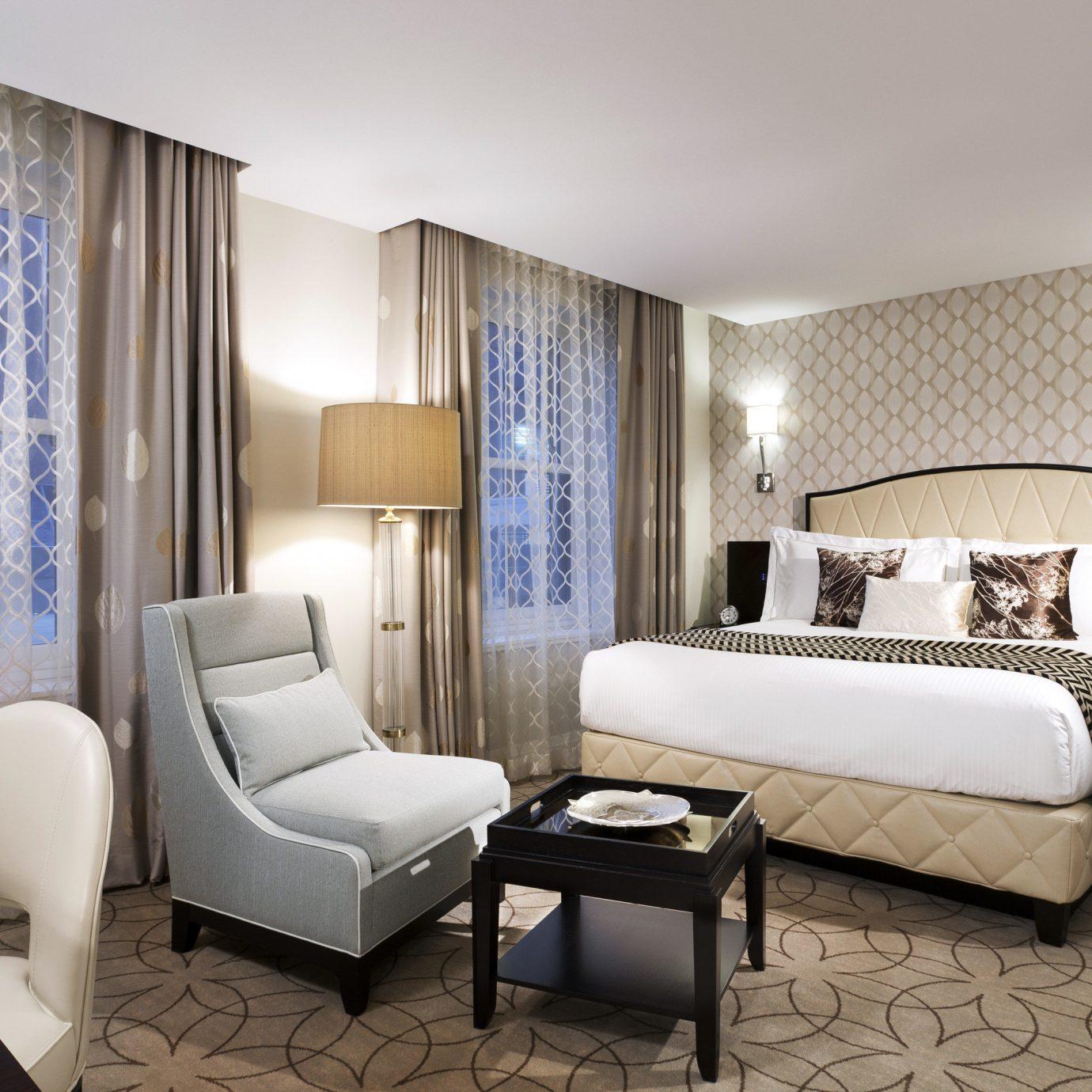 Bedroom City Elegant Hotels Modern Trip Ideas property Suite living room condominium home
