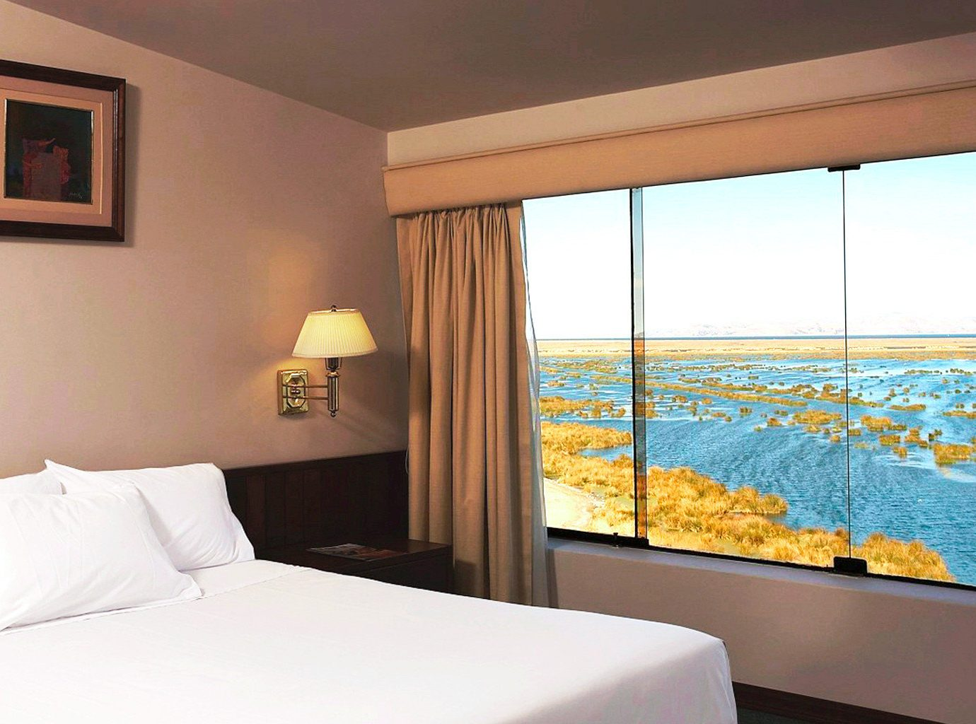 Bedroom Classic Scenic views Suite Waterfront property white condominium Villa cottage