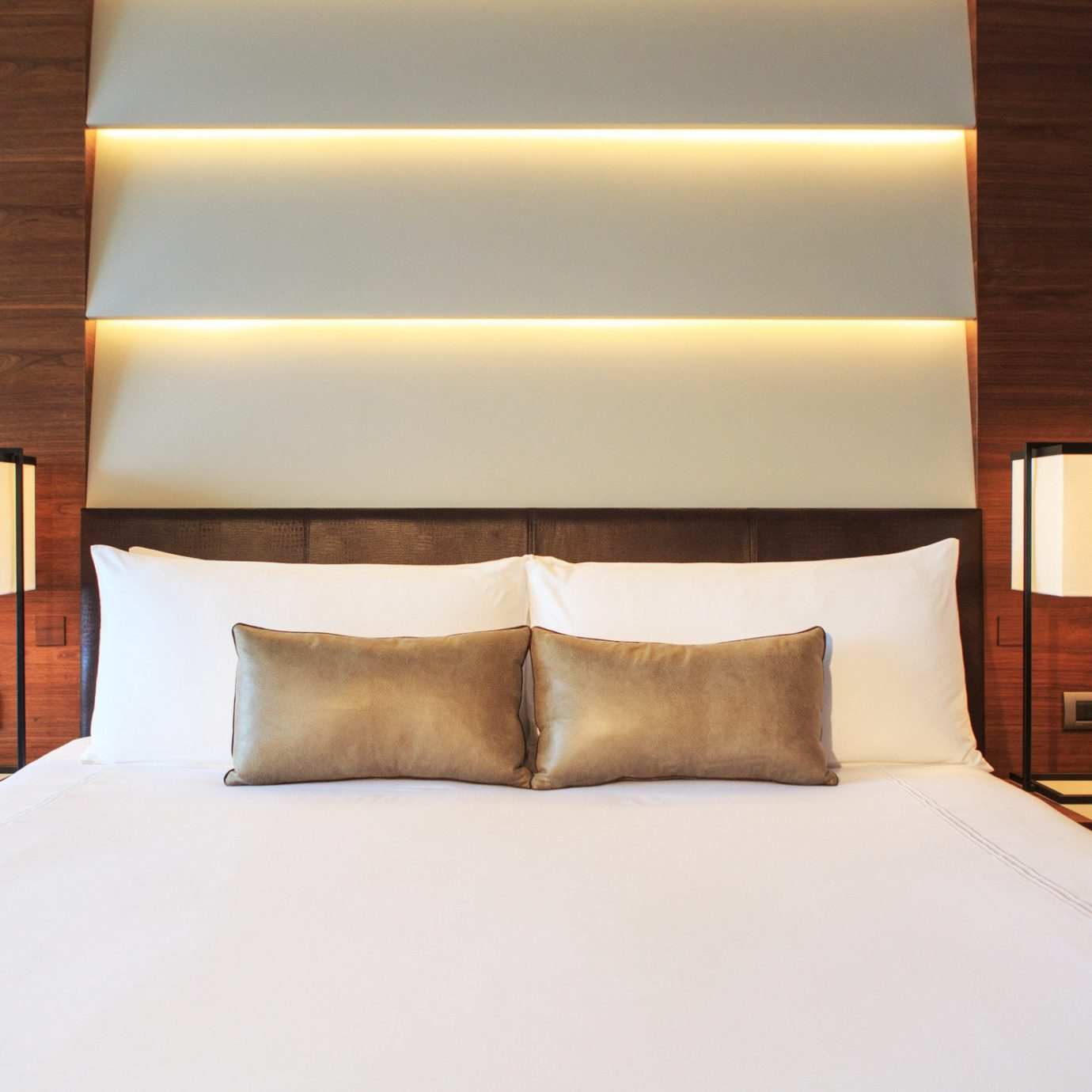 Bedroom Classic Suite pillow lighting bed sheet bed frame clean lamp