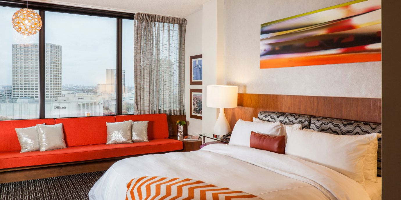 Bedroom Hip Modern Scenic views sofa property pillow Suite orange white red cottage bed sheet flat bedclothes