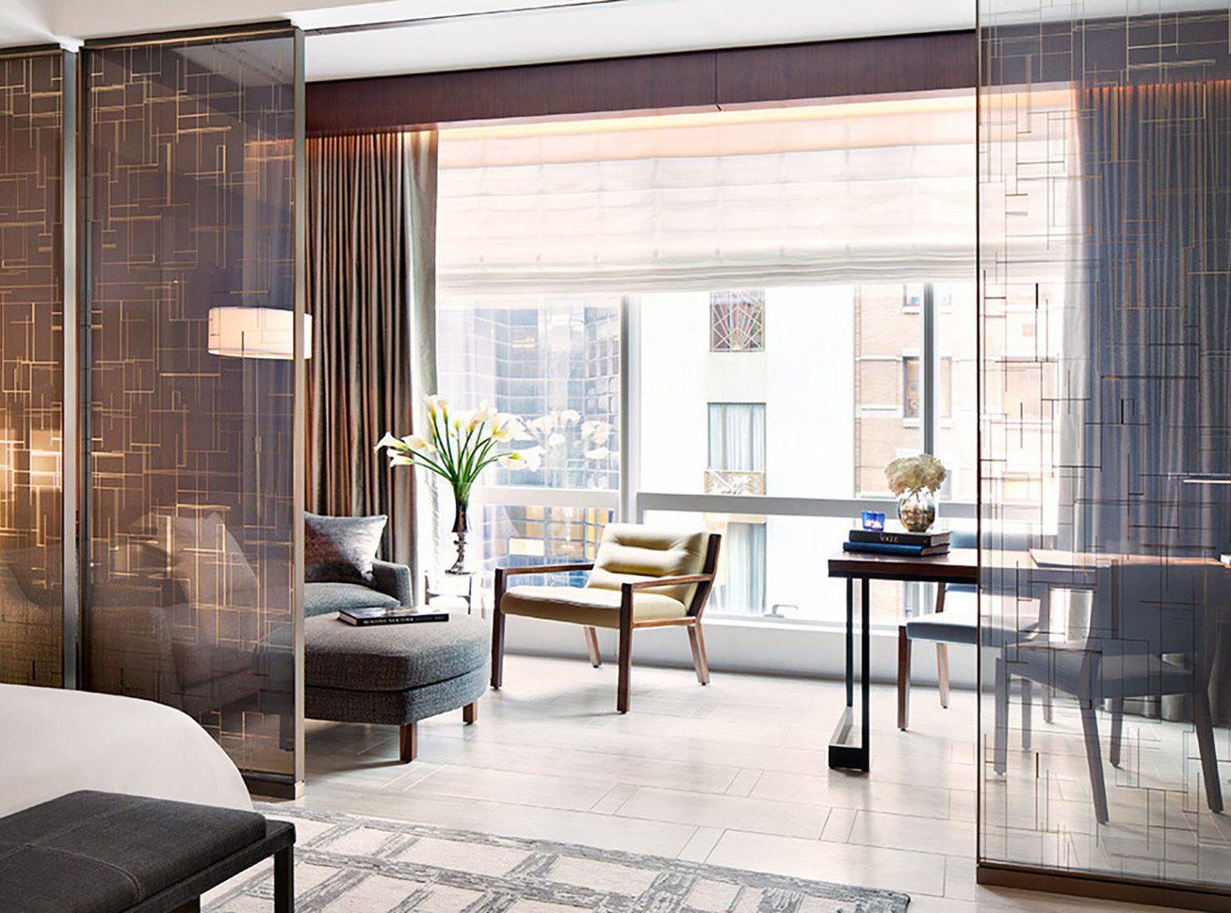 Bedroom Luxury Modern Suite property building living room glass condominium home hardwood loft flooring