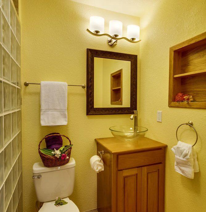 bathroom mirror sink property toilet house home towel cottage Suite rack Bedroom