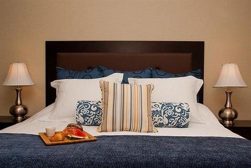 Bedroom Suite pillow bed sheet cottage bed frame lamp