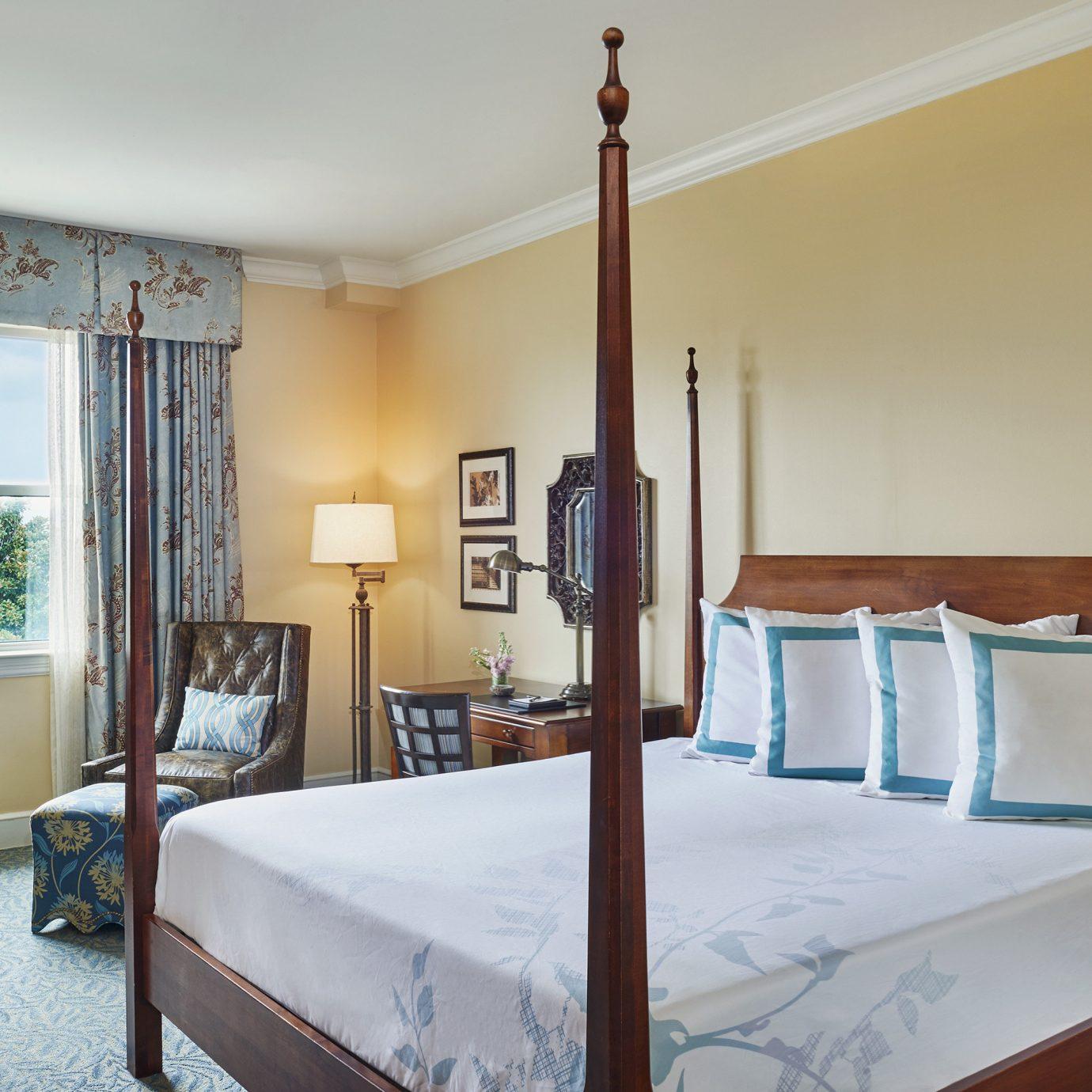 Bedroom Suite bed frame window treatment lamp